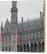 Bruges Markt 9 Wood Print