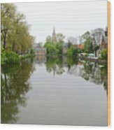 Bruges Minnewater 2 Wood Print