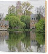 Bruges Minnewater 3 Wood Print