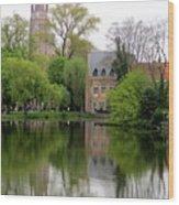 Bruges Minnewater 4 Wood Print