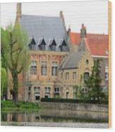 Bruges Sashuis 1 Wood Print