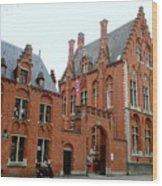 Bruges Sashuis 5 Wood Print