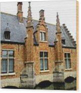 Bruges Sashuis 6 Wood Print