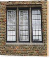 Bruges Window 3 Wood Print