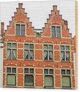 Bruges Window 9 Wood Print