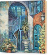 Brulatour Courtyard Wood Print
