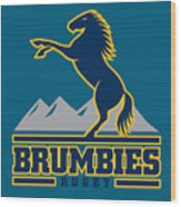 Brumbies Rugby Wood Print