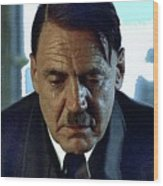 Bruno Ganz As Adolf Hitler Publicity Photo Number Two   Downfall 2004 Color Added 2016 Wood Print