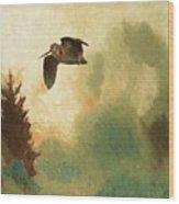 Bruno Liljefors Swedish, 1860-1939, Landscape With Snipe Wood Print