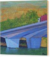 Brunswick River Bridge Wood Print