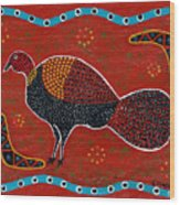 Brush Turkey Wood Print
