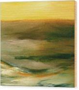 Brushed 4 - Vertical Sunset Wood Print