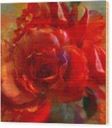 Brushed Flowers Wood Print