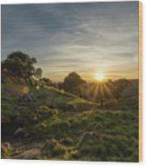 Brushy Peak Sunset Wood Print