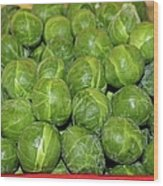 Brussel Sprouts Wood Print