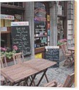 Brussels - Restaurant Chez Patrick Wood Print