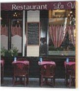 Brussels - Restaurant La Villette Wood Print by Carol Groenen