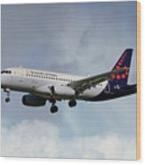 Brussels Airlines Sukhoi Superjet 100-95b Wood Print