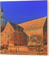 Bruton Parish Church In The Warm Autumn Afternoon Sunlight 6477tmt Wood Print