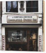 Bruxelles Chocolaterie Wood Print