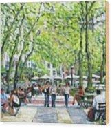 Bryant Park Nyc Wood Print