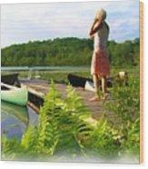 Bryant Pond  Wood Print