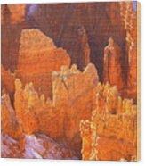 Bryce Ablaze Wood Print