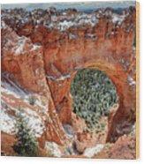 Bryce Arch Wood Print