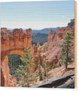 Bryce Canyon Natural Bridge - Utah Wood Print