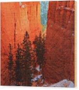 Bryce Canyon Sunrise Glow Wood Print