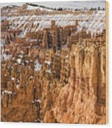 Bryce Canyon Winter Panorama - Bryce Canyon National Park - Utah Wood Print