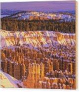 Bryce Canyon Winter Sunrise Wood Print