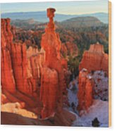 Bryce Canyon's Thor's Hammer Wood Print