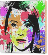 Bryce Dallas Howard Pop Art Wood Print