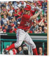 Bryce Harper Washington Nationals Wood Print