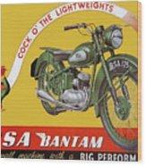 Bsa Bantam Motorcycle Wood Print