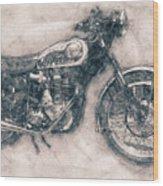 Bsa Gold Star - 1938 - Motorcycle Poster - Automotive Art Wood Print