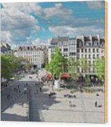Georges Pompidou Square Wood Print