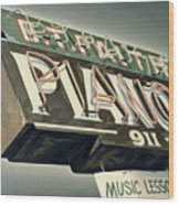 B.t.faith Pianos Wood Print