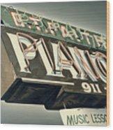 B.t.faith Pianos Wood Print