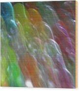 Bubble Fall Wood Print