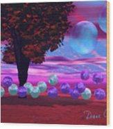Bubble Garden Wood Print