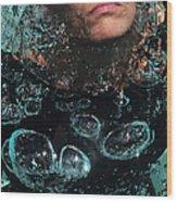 Bubble Maker. Lady Diver Wood Print