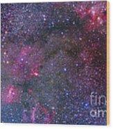 Bubble Nebula And Cave Nebula Mosaic Wood Print