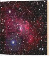 Bubble Nebula Wood Print