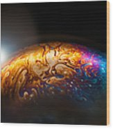 Bubble Planet I  Wood Print