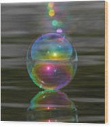 Bubble Shazam Wood Print