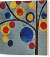 Bubble Tree - Dps02c02f - Left Wood Print