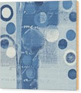 Bubble Tree - S290-01r - Blue Wood Print
