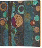 Bubble Tree - Spc02bt05 - Right Wood Print by Variance Collections
